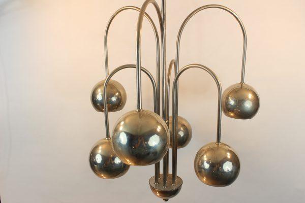 Art Deco Hanglamp : Art deco hanglamp met zes bollen de binnenkant